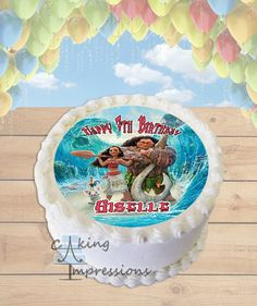 Moana Edible Frosting Image Cake Topper [ROUND]