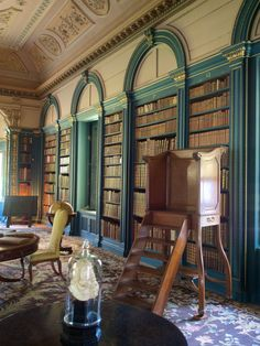 Library at Wimpole Hall, Cambridgeshire, England, uncredited photo.