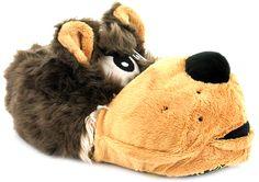 Wolf Head Novelty Slipper   Wynsors #Slippers www.Slippers.com