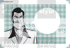 Greeting card with cartoon mafia criminal – place your custom text