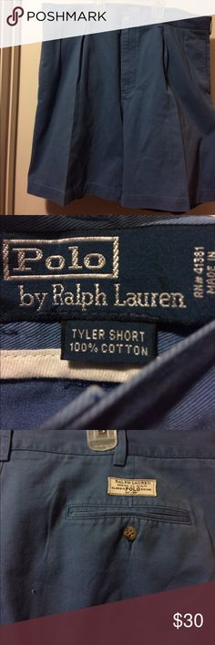Men's Polo Shorts Men's Blue Size 38 Polo Tyler Short Shorts. These are in like new condition and are from a non smoking home 🏡 Polo by Ralph Lauren Shorts