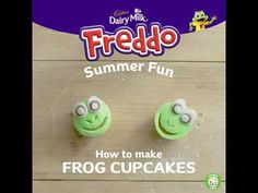 Get creative with Freddo this summer. Learn how to make frog cupcakes with your kids. Remember, adult supervision is required at all times. Handy Tips, Helpful Hints, Frog Cupcakes, Cupcake Youtube, Diy And Crafts, Crafts For Kids, Cake Making, Character Cakes, Water Life