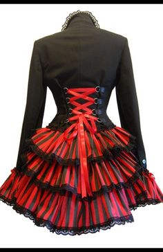 ROCKET MISTRESS – Steampunk Jacket. I really like the contrasting red and black!
