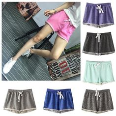 Women Summer Cotton Sports Shorts Casual Beach Running Slim Gym Yoga Hot Pants