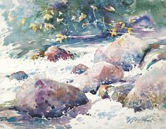 Value and shape are the two of the most important elements to consider when painting. Watercolor artist and instructor Julie Dillard Stroud illustrates how to paint these pesky minerals like a pro, so you can confidently paint the various pebbles, rocks and boulders you might encounter on your landscape adventures.  #howtopaintrocks #watercolortips