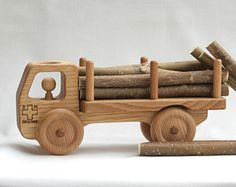 Wooden Bus Wooden toy Car Cherry wood-Eco by BERTYandMASHA