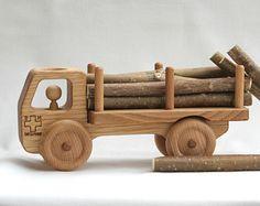 Wooden Bus Wooden toy Car Walnut wood-Eco by BERTYandMASHA