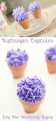 How To Make Adorable Hydrangea Cupcakes! They're super easy, and fun to make for Spring!