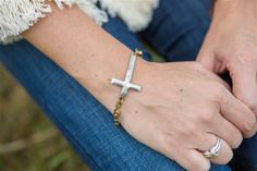 Rustic Cross Bracelet.