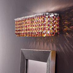 Masiero Aurea Wall Sconce Finish: Chrome, Crystal Type: Swarovski, Crystal Color: Saphire
