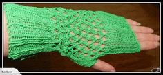 Stunning Cotton fingerless gloves, a wonderful green colour. Green Colors, Fingerless Gloves, Arm Warmers, Hand Knitting, Christmas Gifts, Colour, Fashion Outfits, Lace, Cotton