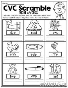 Cvc Worksheets for Kindergarten Pdf. Cvc Worksheets for Kindergarten Pdf. Printable Digraph Worksheets for Kindergarten In 2020 Unscramble Words, Cvc Words, Phonics Worksheets, Phonics Activities, Short E Words, English Phonics, English Worksheets For Kids, Grande Section, Kindergarten Worksheets