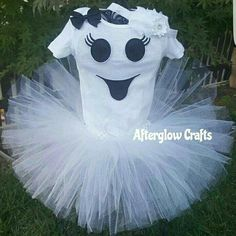 $30 Baby Ghost Halloween Costume.  Ghost tutu outfit. Come check my etsy shop. www.etsy.com/AfterglowCrafts