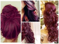 PLUM BURGUNDY HAIR