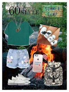 """""""60 Second Style: Summer Camp"""" by stargirl234 on Polyvore featuring Converse, MANGO, Loungefly, Casetify, Lucky Brand, summercamp and 60secondstyle"""