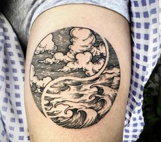 Cool Yin Yang Tattoo by Phil Tworavens