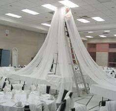 Wedding Ceiling Decor - Draping Kits  FREE FLOWER TUTORIALS  http://www.wedding-flowers-and-reception-ideas.com/make-your-own-wedding.html