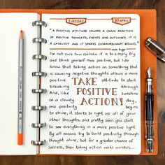You can try to build positivity through thought alone, but for a greater chance of success, then action works wonders…. Daily Journal Prompts, Journal Quotes, Bullet Journal Ideas Pages, Bullet Journal Inspiration, Journal Pages, Bullet Journals, Daily Inspiration, Bujo, Psychology Textbook