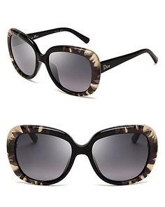 Dior Oversized Tie Dye Print Sunglasses | Bloomingdale's