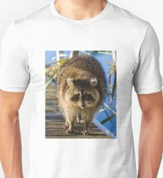 Mike Edge is an independent artist creating amazing designs for great products such as t-shirts, stickers, posters, and phone cases. Tshirt Photography, Animal Photography, Racoon, Men's Apparel, Mens Tops, T Shirt, Animals, Shopping, Fashion