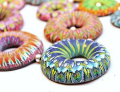 Colorful Necklace of Fimo Donuts by LyamayevaCraft on Etsy, €85.00