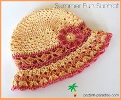 Ravelry: Summer Fun Sunhat PDF14-142 pattern by Maria Bittner