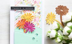 Spring Thanks Card using the NEW Prizm Die Cutting and Embossing Machine