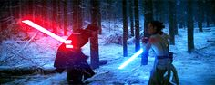Star Wars: The Force Awakens Kylo Ren vs Rey Final Battle <><> OH MY GOODNESS I CANT STOP WATCHING ITS EPIC