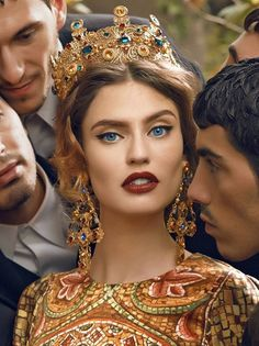 Italian model Bianca Balti in Dolce Gabbana's Fall 2013 ad campaign that was photographed by designer Domenico Dolce.