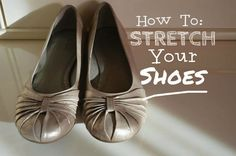 Shoes hurting your feet? Stretch them out! Stretch Leather Shoes, How To Stretch Shoes, How To Make Shoes, Leather Boots, Bob Shoes, Women's Shoes, Foot Stretches, Keep Shoes, Girls Dress Shoes