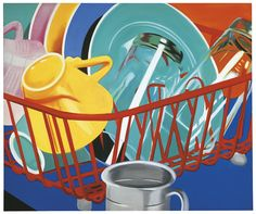 'The Pop Object': New Book And Exhibit Explores The Still Life Tradition Of Pop Art (PHOTOS) James Rosenquist, Dishes, 1964 Oil on canvas 50 x 60 inches (127 x 152.4 cm)