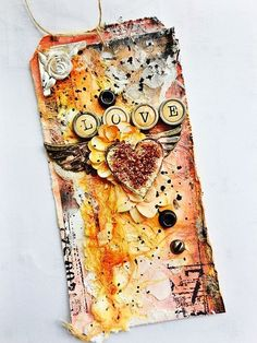 A mixed Media tag for Prima!