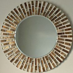 Mosaico hecho a mano hermoso espejo por MirorMirorOnTheWall en Etsy