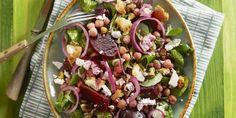 Boodschappen - Bietensalade met kikkererwten en feta