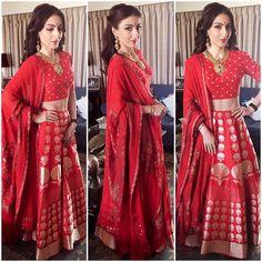Brocade Lehenga, Banarasi Lehenga, Red Lehenga, Ethnic Dress, Indian Ethnic Wear, Indian Designer Outfits, Designer Dresses, Designer Clothing, Ethnic Fashion