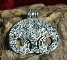 Viking Bird Tribe Women's Sacred Amulet - Silver Replica Denmark by WulflundJewelry, Kč1200.00 (sometimes called Lunula Lunitsa in modern times)