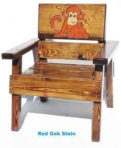 kids outdoor chair dresser with mirror and 94 best furniture for images children childrens boy girl toddler christmas birthday shower gift patio garden reclaimed wood engraved monkey by
