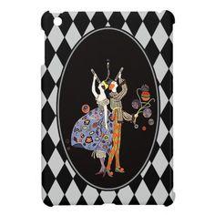 Vintage WW1 Art Deco Party Goers Harlequin iPad Mini Cases
