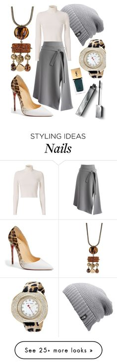 """Beanie"" by tara-omar on Polyvore featuring Yves Saint Laurent, Burberry, The North Face, Chicwish, Christian Louboutin, A.L.C. and Betsey Johnson"
