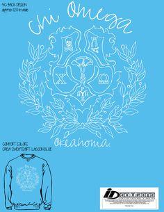 Oklahoma Chi Omega sweatshirt #chio #tshirt #greek #sorority #crest