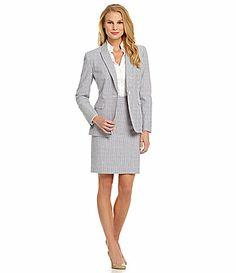 Antonio Melani Hasburg Seersucker Jacket and Skirt #Commandress