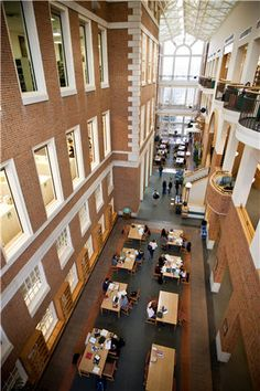 ZSR- the best college library in the world! Hit the books in style at Wake Forest University