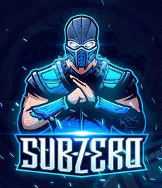 Sub-Zero, Mortal Kombat Escorpion Mortal Kombat, Sub Zero Mortal Kombat, Game Logo Design, Esports Logo, Marvel Fan Art, Mascot Design, Game Character Design, Mk Logo, Animal Sketches