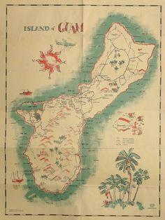 Older map of Guam Island Map, Island Food, Northern Mariana Islands, Christmas Island, Diego Garcia, Marshall Islands, Solomon Islands, Cook Islands, Vanuatu