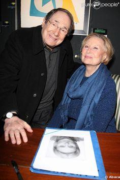 Robert Hossein et Michèle Morgan. 02/03/09