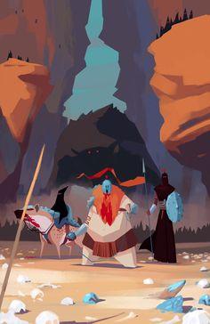 RTS game - Visual Development by Ariel Belinco, via Behance