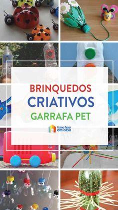 Olha esses brinquedos reciclados com garrafa PET! Você pode fazer para criar brincadeiras educativas e divertidas com as crianças utilizando garrafas de plástico. Diy, Crafts For Kids, Alice, Christmas Ornaments, Pets, Holiday Decor, Easy Pranks, Kids Diy, Diy Home