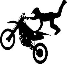 Dirt Bike / Motorcycle vinyl decal - For Cars, Laptops, Sticker, Mirrors, etc. Baby Shower Motorcycle, Motorcycle Baby, Motorcycle Stickers, Motorcycle Wheels, Public Domain, Car Decals, Vinyl Decals, Wall Stickers, Bike Silhouette