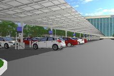 Ford Motor Company объединился с DTE Energy с целью постройки крупнейшей Мичигане солнечной зарядной станции для электромобилей.