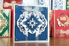 Stunning #carddesign from the Festive Flourishes Collection. Shop now at C+C: http://www.createandcraft.tv/pp/_344073 #cardmaking #papecraft